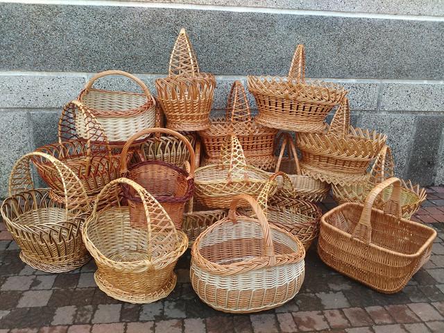 Пасхальные плетеные корзинки