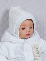 Зимняя вязанная шапочка, белая