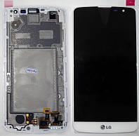 Дисплей + сенсор LG D335 Bello Dual with frame белый