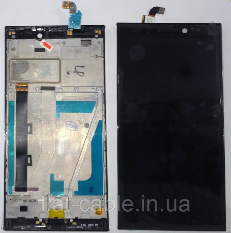 Дисплей + сенсор Lenovo Vibe Z2 черный с рамкой