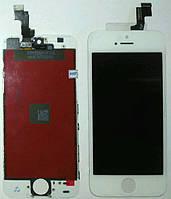 Дисплей iPhone 5S iPhone SE с cенсором белый White (качественная копия)