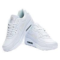Женские белые модные кроссовки Nike Air Max 90 Найк Аир Макс 90, копия Rapter