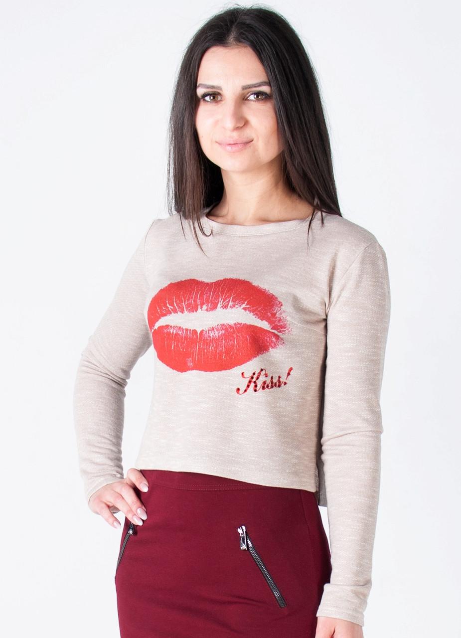 Укороченная кофта «Kiss»