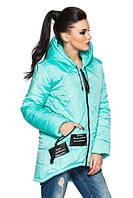 Молодежная женская бирюзовая   стеганная куртка  Камила  Модная зона  44-54 размеры