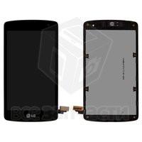Дисплейный модуль для мобильного телефона LG LG D290 L Fino Dual, черный, original (PRC), с передней панелью