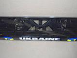 Рамка номерного знака Украина CarLife (подномерник) 1шт, фото 2