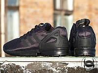 Кроссовки мужские Adidas ZX Flux Black (адидас) реплика