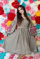 Платье женское с вышивкой СЖ 0610-21