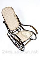 Кресло качалка ореховое сетка