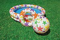 Детский бассейн надувной  122х25 см с мячом и кругом