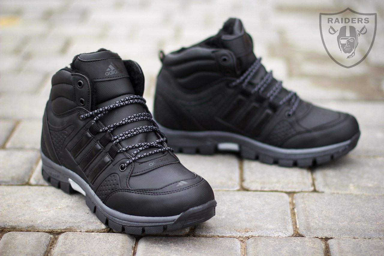 62aa49b2c90f Кроссовки мужские зимние (адидас) Adidas black (реплика), цена 990 ...