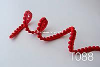 Тесьма со вставками красная 12 мм (Т088), фото 1