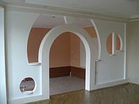 Возведение офисных перегородок, арки