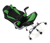 Офисное,компьютерное кресло Veroni Lucaro, черно-зеленое