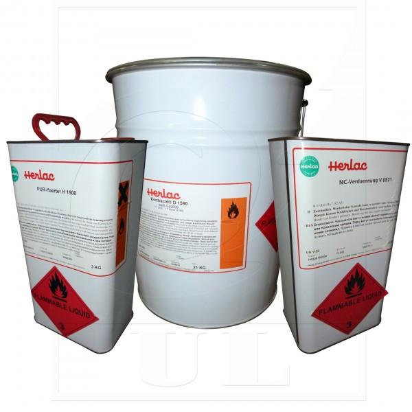 2-К Полиуретановая эмаль, белая  вгл. Contracid D1590 HERLAC (21кг. эмаль., отв. H1500 3кг., раств.V 0521 4л.)