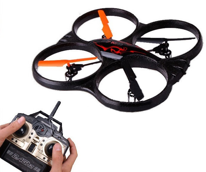 Квадрокоптер-дрон UFO SkyKing, передатчик частоты 2,4Ghz