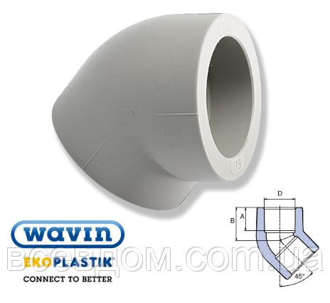 Колено Wavin Ekoplastik 40x45°