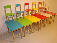 Детский стол + 2 стула, цвета на выбор