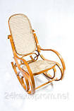 Кресло качалка светлое сетка, фото 2