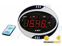 Часы говорящие сетевые VST 770 Т-1 красные, мультифункциональные электронные часы, навесные часы для дома