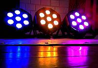 Cвітлодіодний прожектор LED Par 7x10 DMX концертного та інтерьерного освітлення