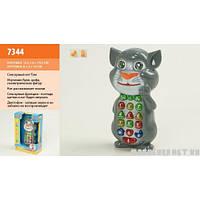 Интерактивный телефон Кот Том 7344 (Батарейки в комплекте)