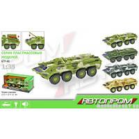 Коллекционная модель Автопром  Военный БТР