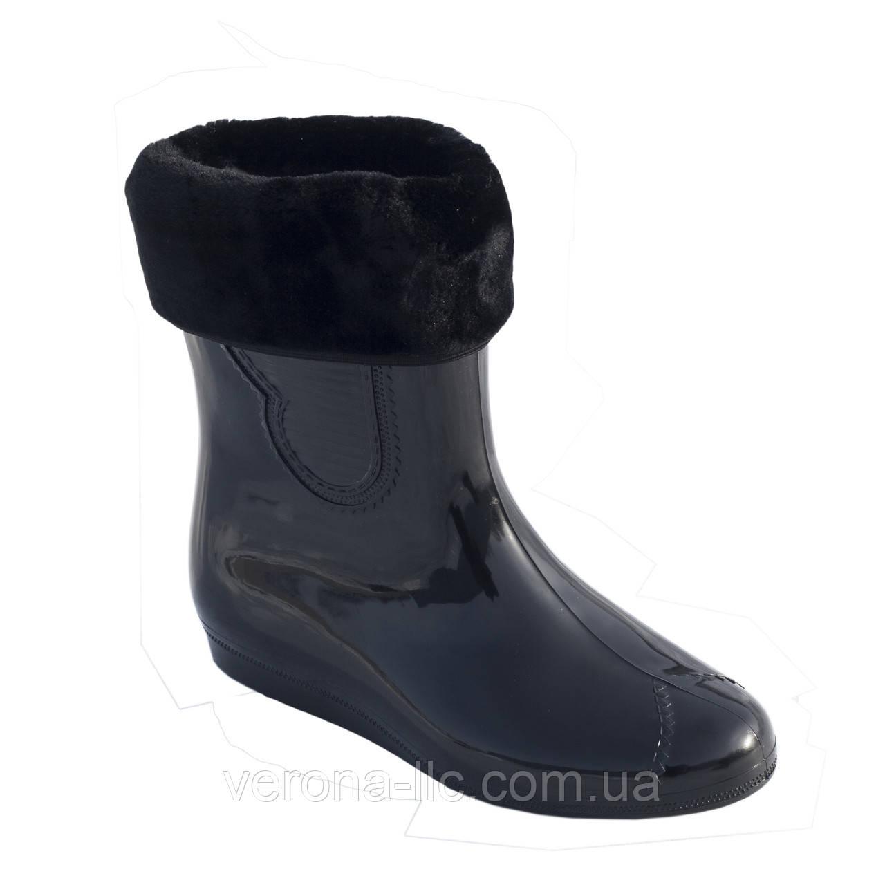 0f71adaec Сапоги резиновые женские силиконовые черные с мехом - Производство обуви