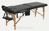 Массажный стол BODYFIT 2 сегментный деревянный,чёрный