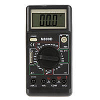 Цифровой вольтметр тестер M890D, LCD дисплей 25х60 мм, зумер, подставка