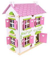 Игровой кукольный домик + 2 куклы