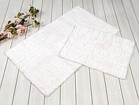 Набор ковриков для ванной Irya Jasmine кремовый 60x100 см+45x60 см.