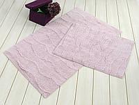 Набор ковриков для ванной Irya Jasmine лиловый 60x100 см+45x60 см.