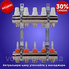 Коллекторная система на 2 выхода с расходомерами и регулирующими кранами ICMA art. K013