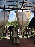 Уличные шторы для беседок с пропиткой - от мух и комаров