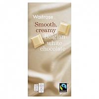 Бельгийский белый шоколад Waitrose creamy belgian white chocolate