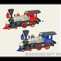 """Поезд """"Classik Locomotive"""" метало пластиковый, инерционный в коробке KS7102W  """"Kinsfun Китай"""""""