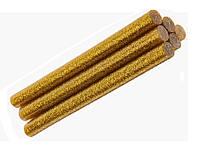 Клеевые стержени Клей с глиттером блестками Золото для термо-пистолета 11x100 мм 6 шт/уп, фото 1