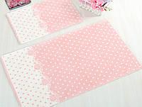 Набор ковриков для ванной Irya  Lavinya персиковый 60*100+40*60