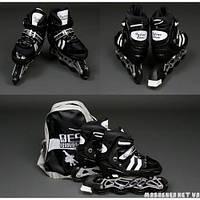 Ролики размер 35-38, колеса PU, перднее колесо свет, цвет черный в сумке 9031-35-38-черн. Best Rollers Китай