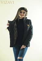 Женская теплая черная куртка. Материал плащевка. Размер 42-44, 44-46