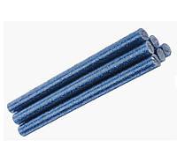 Клеевые стержени Клей с глиттером блестками Синий для термо-пистолета 8x100 мм 6 шт/уп