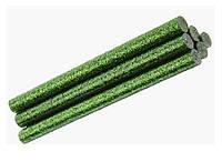 Клеевые стержени Клей с глиттером блестками Зеленый для термо-пистолета 8x100 мм 6 шт/уп, фото 1
