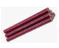 Клеевые стержени Клей с глиттером блестками Малиновый для термо-пистолета 8x100 мм 6 шт/уп