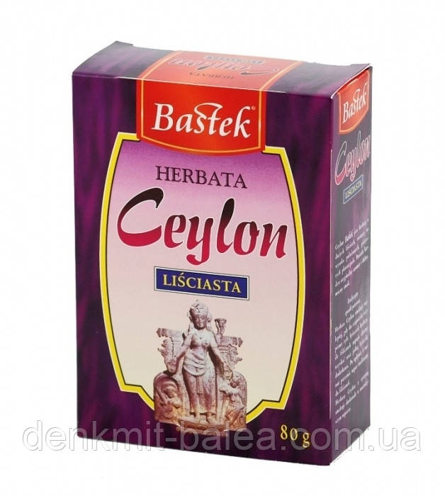 Цейлонский черный листовой чай Bastek Ceylon 80 гр