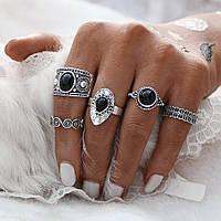 Турецкое кольцо, античное СЕРЕБРО , набор из 5 шт. !!! Арт. 6521131