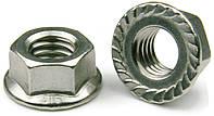 Гайка шестигранная с фланцем DIN 923; к.п. 8.0,10