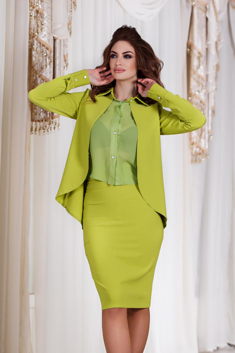 ДТ1118 Трендовый женский костюм