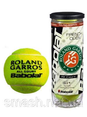 Теннисные мячи  Babolat Roland Garros All Court RG/FOAC 3 мяча