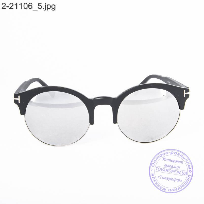 Сонцезахисні окуляри унісекс - чорні дзеркальні -2-21106, фото 2